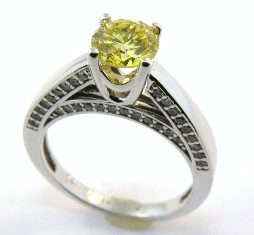 cut wedding princess rings engagement canary diamond yellow
